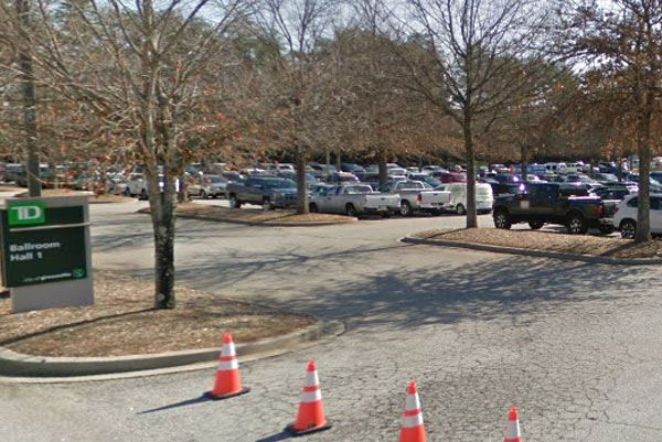 Photo of TD parking lot filled with cars