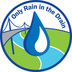 Only Rain in the Drain stormwater logo
