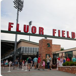 Fluor Field with people out front